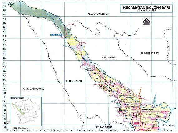 Download Peta Kecamatan Bojongsari