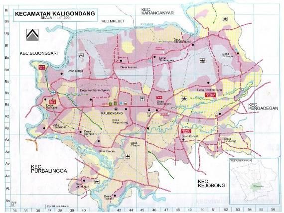 Download Peta Kecamatan Kaligondang