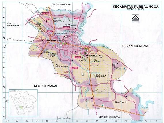 Download Peta Kecamatan Purbalingga