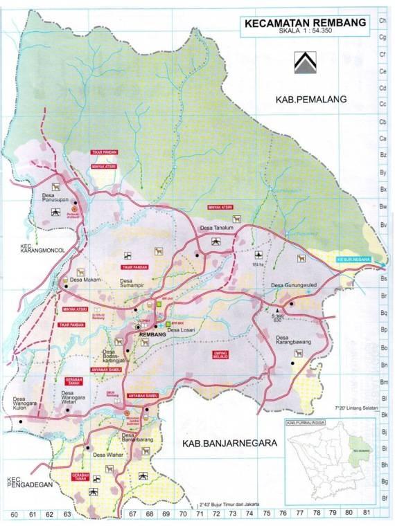Download Peta Kecamatan Rembang